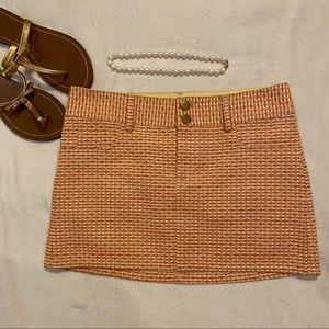 Alice + Olivia Orange & Yellow Mini Skirt